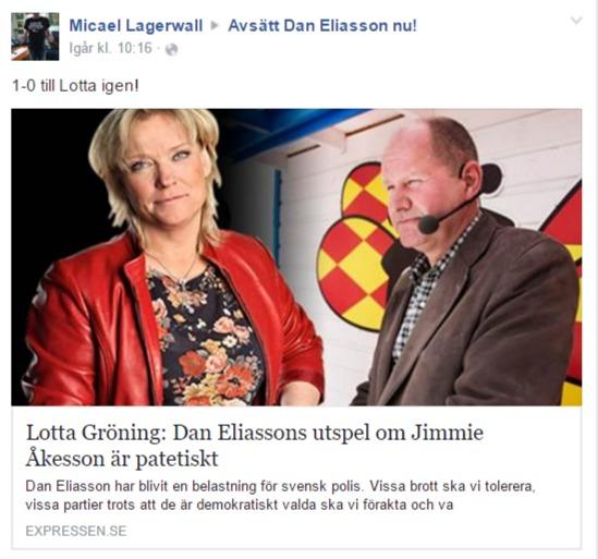 Dan Eliasson är patetisk - Lotta Gröning