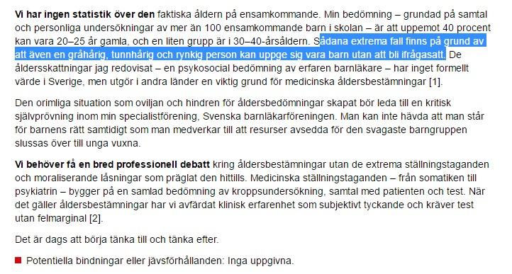 Vi har ingen statistik över den faktiska åldern på ensamkommande - Oetiskt att inte åld_ - http___www.lakartidningen.se_Opini